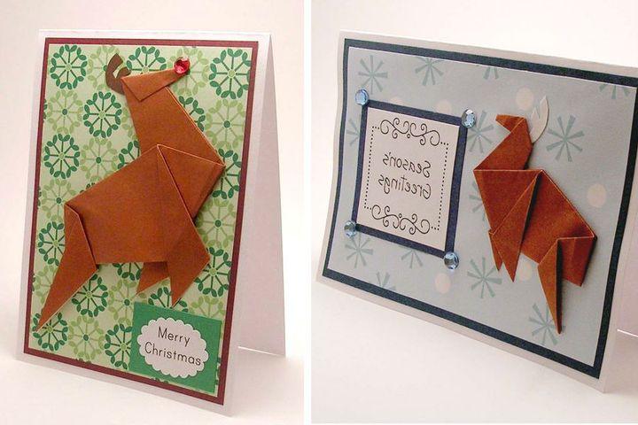Пошаговая инструкция по сборке бегущего оленя в технике оригами