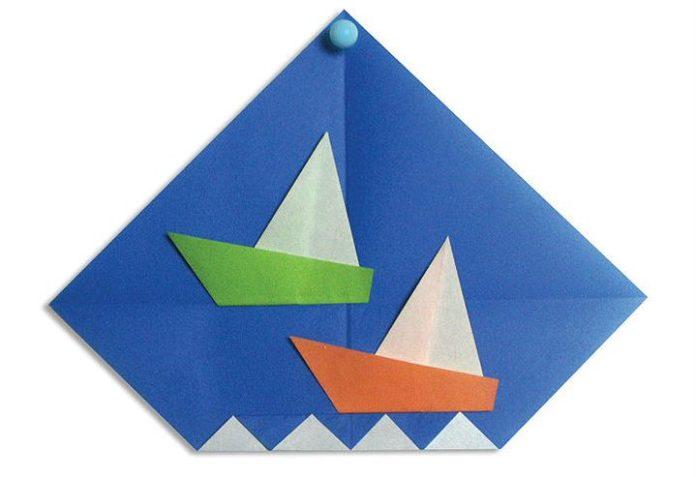 Оригами-парусник