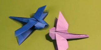 Подробное описание процесса сборки стрекозы-оригами