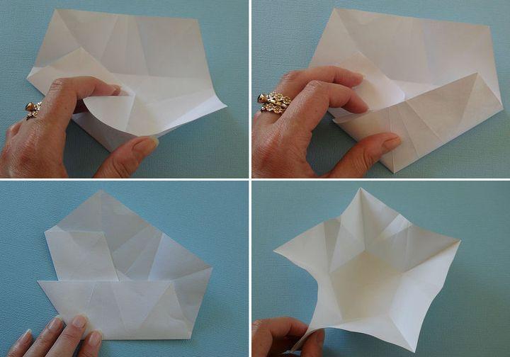 Поэтапная сборка оригами-открытки на 23 февраля со звездой