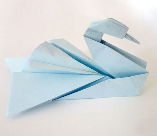 Мастер-класс по изготовлению оригами-лебедя в качестве декора для бумажной свадьбы