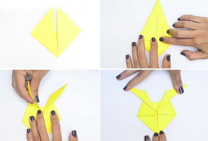 Мастер-класс по сборке элементарной модели Пикачу в технике оригами