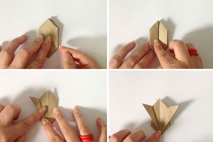 """Мастер-класс по изготовлению оригами-зайца на основе """"Водяной бомбы"""""""