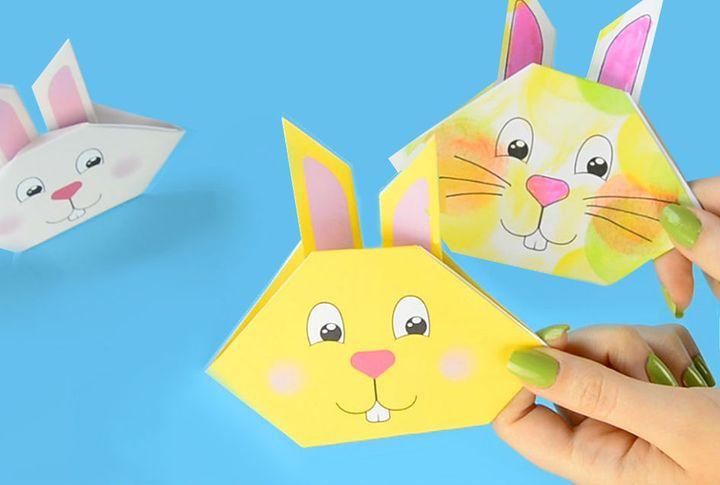 Мастер-класс по изготовлению мордочки оригами-зайца