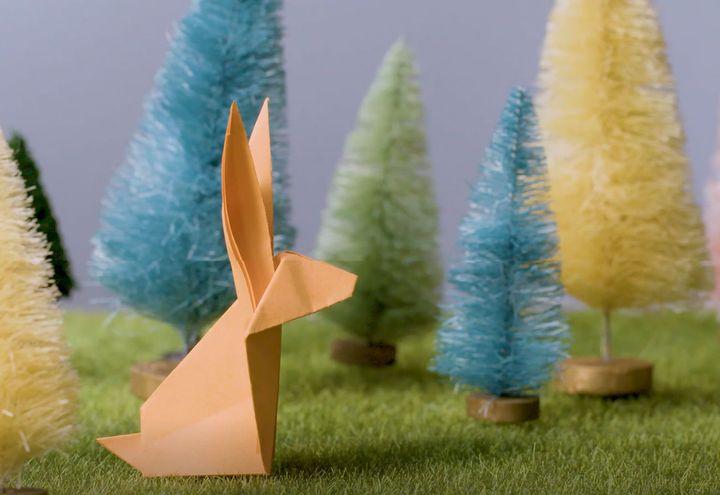 Мастер-класс по изготовлению оригами-зайца для детей