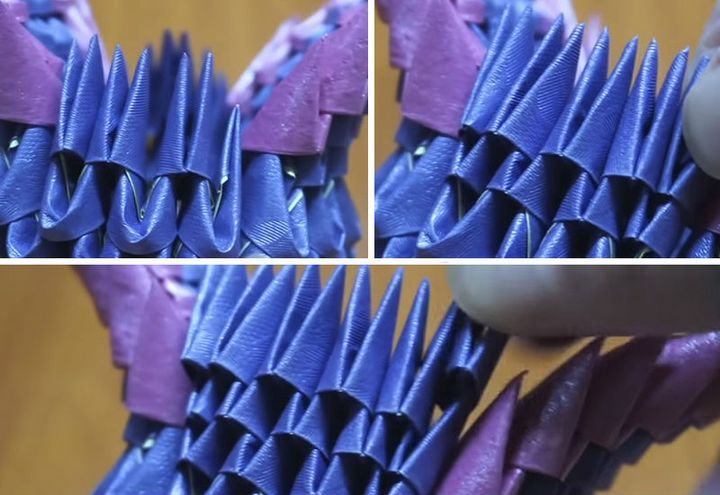 Мастер-класс по изготовлению модульного оригами «Павлин»