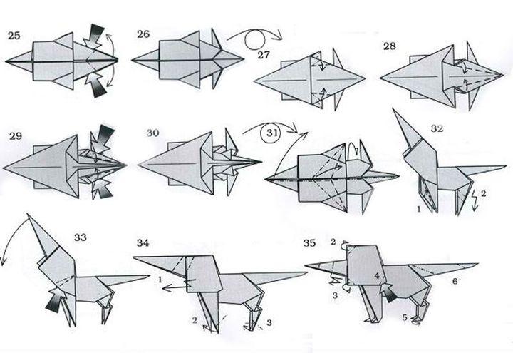 Мастер-класс по сборке сложной фигуры оригами-льва из бумаги