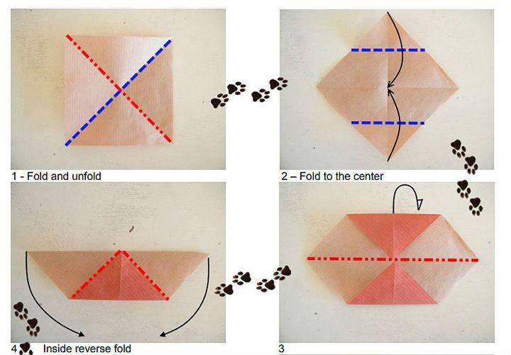 Мастер-класс по сборке сидящей фигуры оригами-льва из бумаги