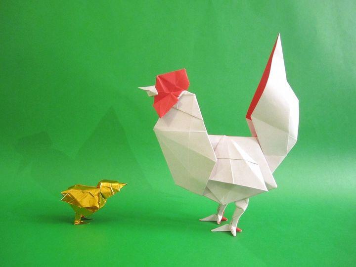 Петух-оригами от Тецуя Готани