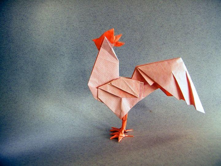 Петух-оригами от Руи Рода