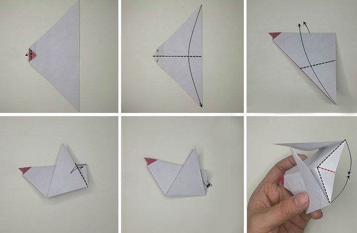 Мастер-класс по сборке простой модели оригами-петушка