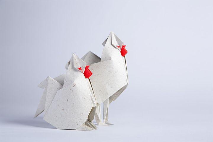 Петух-оригами от Нгуен Нгок Бай