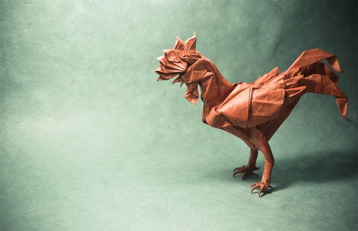 Петух-оригами от Сатоши Камия