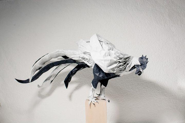 Петух-оригами от Йошимаса Цурута