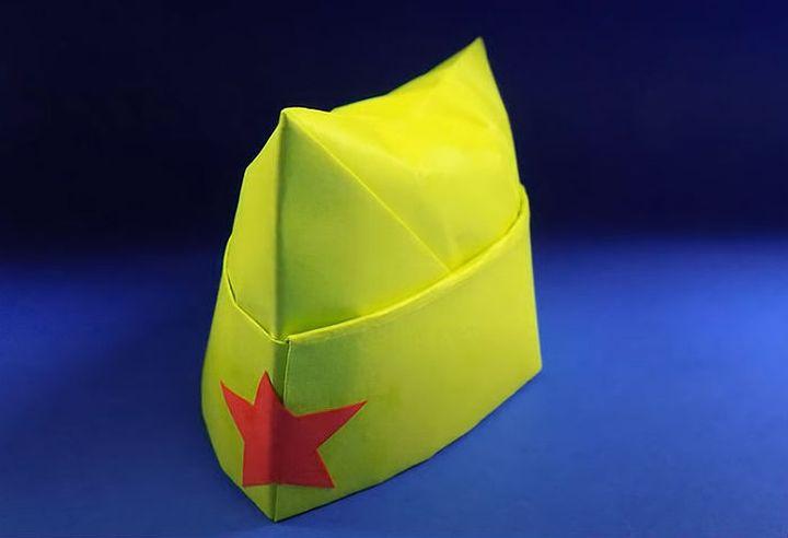 Мастер-класс по изготовлению красноармейской оригами-пилотки