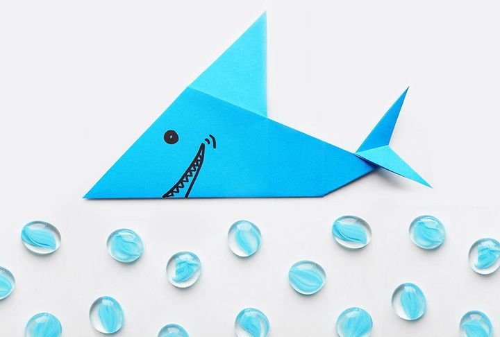 Мастер-класс по сборке оригами-акулы