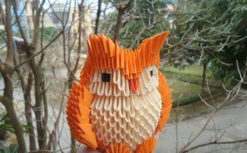 Совы-оригами из модулей
