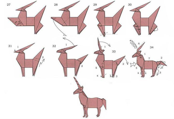Мастер-класс по изготовлению оригами-единорога - сложная модель