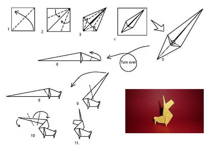 Мастер-класс по изготовлению оригами-единорога - украшение