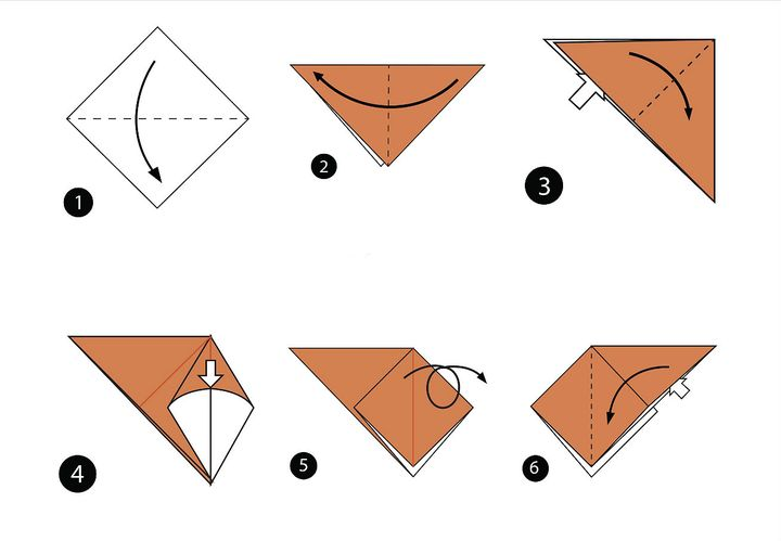 Морская черепаха в технике оригами