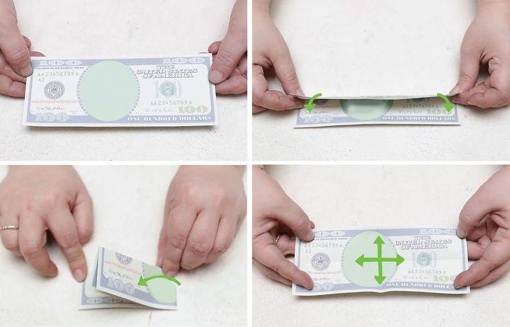 Оригами-черепаха из денежной банкноты