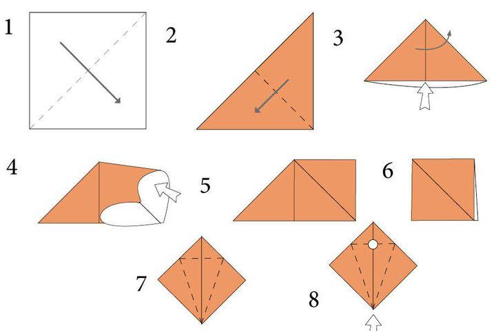 Инструкция по изготовлению оригами-клоуна для фотозоны
