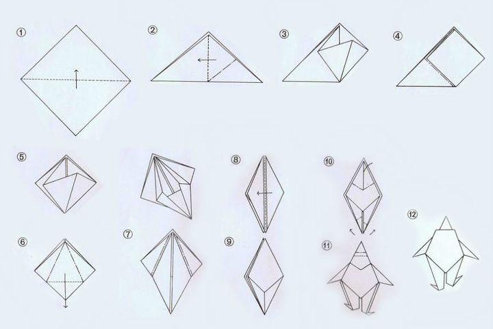 Инструкция по изготовлению оригами-клоуна в виде топпера
