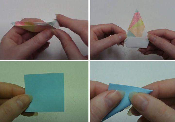 Инструкция по изготовлению оригами-клоуна для поздравительной открытки