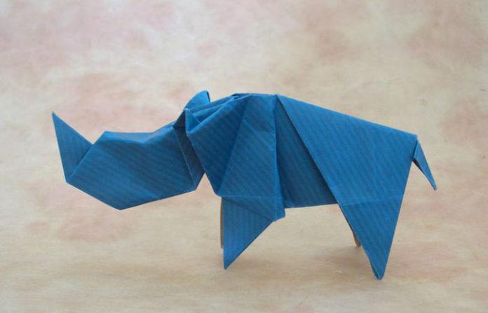 Оригами-носорог №8
