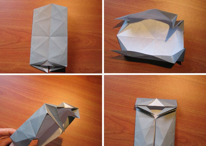 Мастер-класс по сборке интерьерной фигурки оригами-носорога