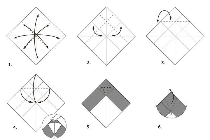 Мастер-класс по изготовлению простой модели летящего оригами-орла