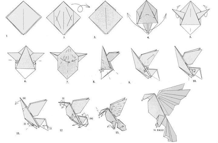Мастер-класс по изготовлению сложной модели оригами-орла