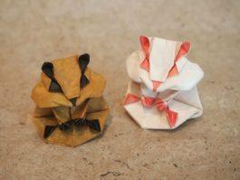 Оригами-хомяк