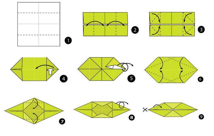 Мастер-класс по изготовлению оригами-аллигатора