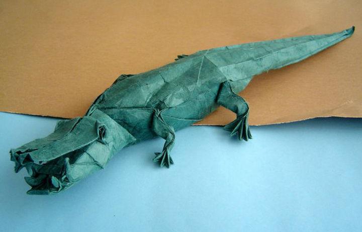 Крокодил-оригами