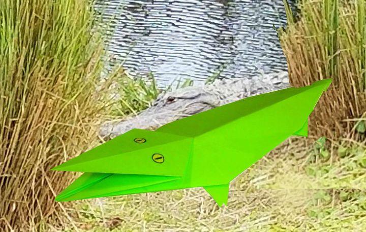 Мастер-класс по изготовлению  гребнистого крокодила в технике оригами
