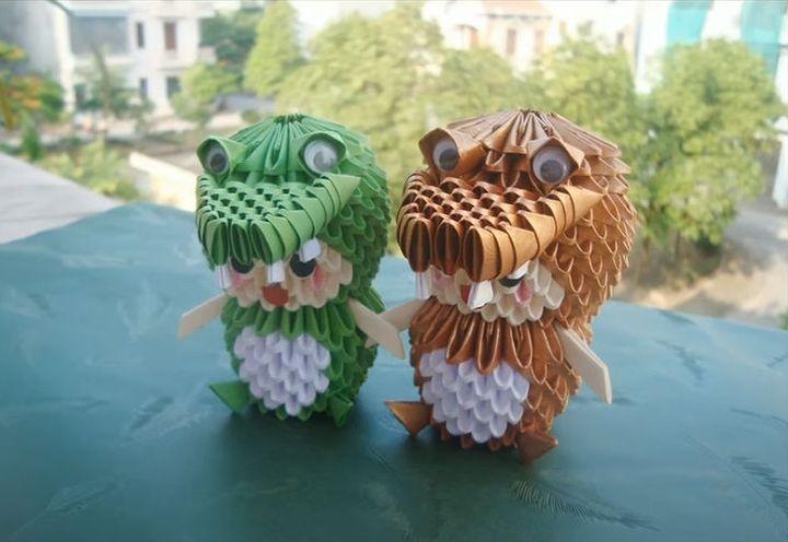 Мастер-класс по изготовлению модульного  крокодила-оригами