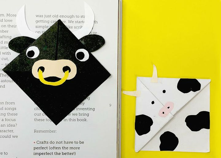 Оригами-закладка в виде быка