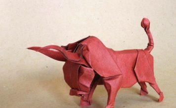 Оригами-бык от Стефана Вебера