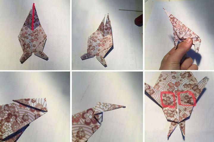 Поэтапная сборка атакующей фигуры быка в технике оригами