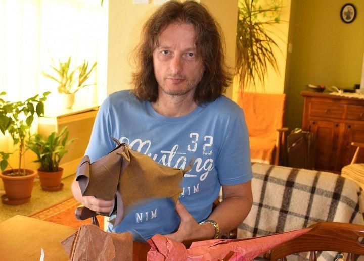 Оригами-бык от Йозефа Зебе