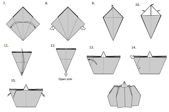 Мастер-класс по сборке  модели оригами-тыквы от Джо Накашимы