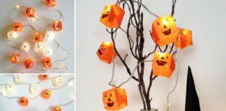 Мастер-класс по сборке светящейся модели оригами-тыквы