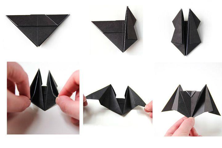 Мастер-класс по сборке  летучей мыши в технике оригами