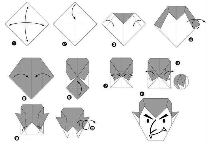 Мастер-класс по сборке  Дракулы в технике оригами