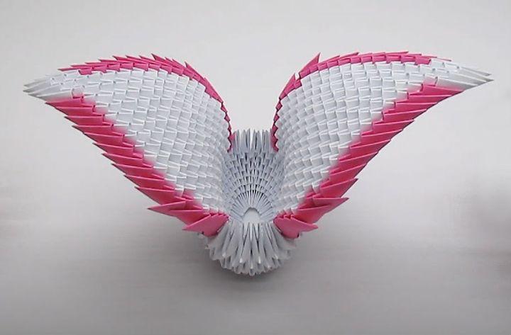 Пошаговая инструкция сборки модульного оригами Лебедь для новичков