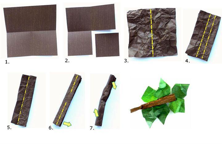 Мастер-класс по сборке бумажного бонсая в виде оригами-дерева