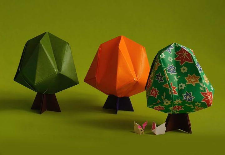 Мастер-класс по сборке объемной модели оригами-дерева