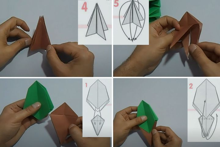 Мастер-класс по сборке подставки под рассадочные карточки в виде оригами-дерева