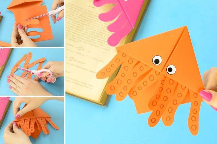 Мастер-класс по сборке модели оригами-осьминога в виде закладки